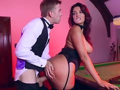 Gorgeous Emma Leigh takes cock right on the pool table