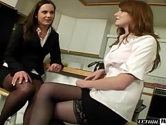 Nikki and Winter make out before pleasuring their wet snatches porn tube video