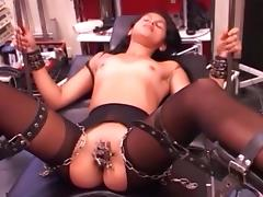 Cute girl is tied, clamped and vib till cum porn tube video