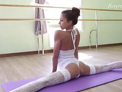 Ballerina, Flexible, Lingerie, Russian, Solo, Stockings