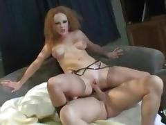 Redhead Gets Precision Double Thrusting porn tube video