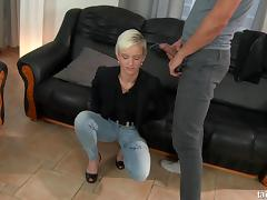 Bend Over, Blonde, Couple, Doggystyle, Facial, Fetish