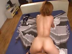 Moans as cowgirl pussy is worked on using toy in Asian compilations porn tube video
