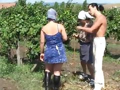 Chubby sexy chick getting fucked in the farm porn tube video