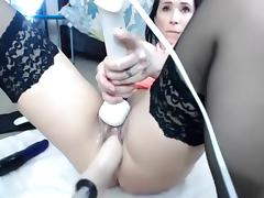 Hottest Amateur movie with Toys, Brunette scenes