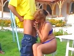 Mature and grannies outdoor orgy german