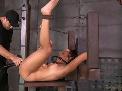 Matt and Jack give the missionary drilling to a tied-up senorita
