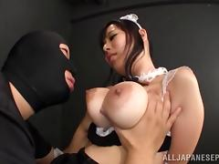 Cute Japanese babe being fondled and fucked by a robber tube porn video