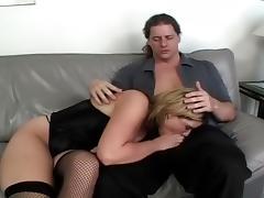 Busty Redheaded MILF Gets Hard DP porn tube video