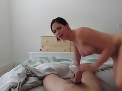 Hot girlfriend sucking and riding pov porn tube video