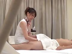Oriental babe gives a little more than just a massage
