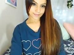 Fit college girl brunette on cam