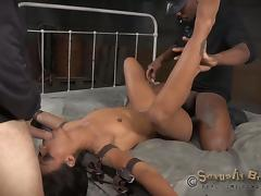 Rapacious fuckers destroy a submissive babe's holes porn tube video