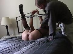 Tormenting Jeanne in bed porn tube video