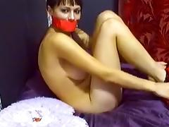 Horny webcam College, Fetish record with 40DDSLUTX model.