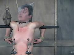 Bonnie Day's pale body gets ravished during a nasty BDSM game tube porn video