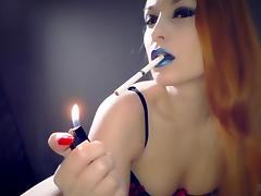 Lipstick Smoking Fetish porn tube video