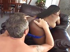 Busty Ebony Chick Get Her Ass Fucked porn tube video