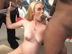 Black gangbang on pregnant white slut 1