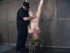 Naughty Dresden enjoys a kinky BDSM session with her nasty master