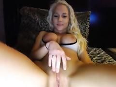Webcam, Blonde, Legs, Spreading, Toys, Webcam