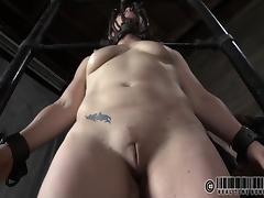 Slave hot ass getting spanked mercilessly in BDSM porn