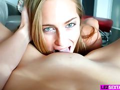 Beautiful lesbian babe eats cunt porn tube video