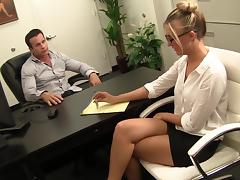 Cute Blonde Office Bitch Hailey Fucked porn tube video