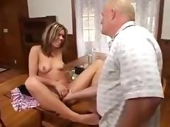 Chick and her nimble feet porn tube video