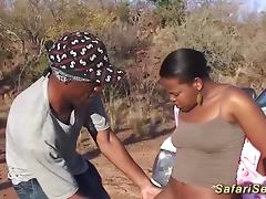 Extreme wild sex lesson with a chubby hot chocolade african babe at my sex safari