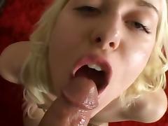 Vivacious Blond in Bikini Sucking Dick