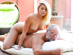 Blonde, Blonde, College, Grandpa, Old Man, Outdoor