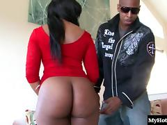 Ebony beauty with a great ass fucked hard by a handsome man porn tube video