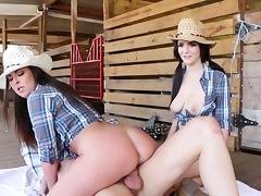 Country girls fucking in extreme XXX group scenes