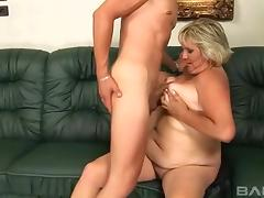 Blonde cougar Kokai knows how to make a boner stiff