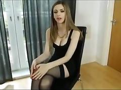 Sexy girl in stockings and high heels
