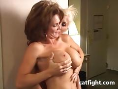 Big Boobs Bobby in action in Catfight