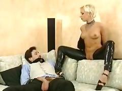 Rideth cock blonde colleague