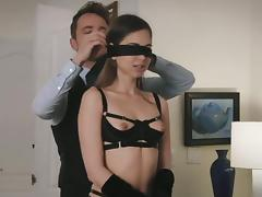 Emma Marx blindfolded before an awesome erotic affair porn tube video