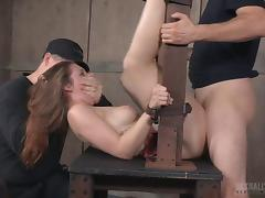 Submissive Nora enjoys being tortured and pleased at the same time