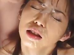 Bukkake, Asian, Bukkake, Uncensored, Blowbang, Gokkun