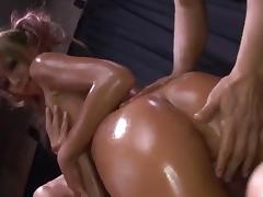 Kyoko chokes with two cocks in dirty threesome