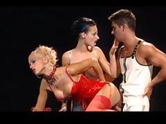 Horny pornstars Cony Ferrara and Michelle Wild in amazing cumshots, threesomes sex video