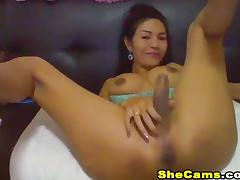 Hot Tranny Get Naked and Masturabate on Cam porn tube video