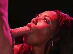 Black beauty Chanell can't wait to have her mouth filled with cum