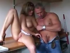 Busty German Girl have Sex in Kitchen