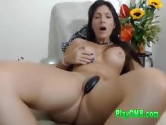 Bubble Dark Hair Milf Cant Stop Shaking to Shaker While You Play Her