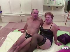 German Granny and Grandpa in Real Porn Casting for Cash porn tube video