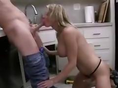 Blonde TS call for help porn tube video
