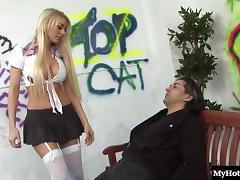 Antonia makes his long dong burst by riding it roughly